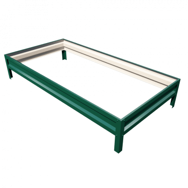 Оцинкованные грядки с полимерным покрытием (ширина 0,65 м)